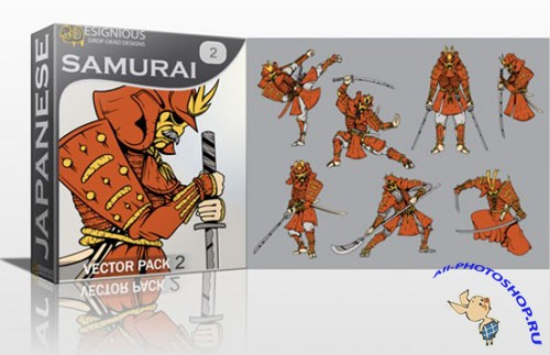 Samurai Photoshop Vector Pack 2