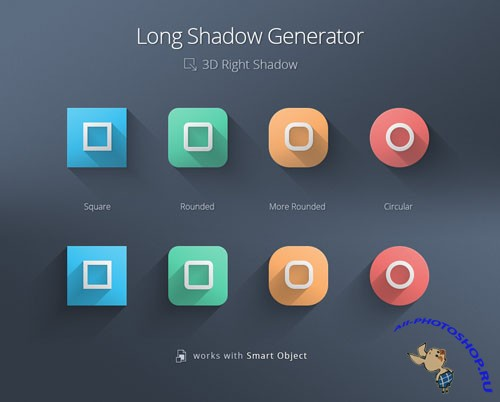 Pixeden - Long shadow Generator Psd