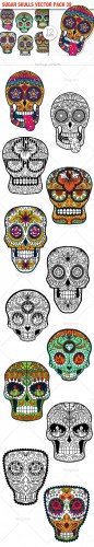 Sugar Skulls Vector Pack 39