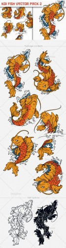 Koi Fish Photoshop Vector Pack 2