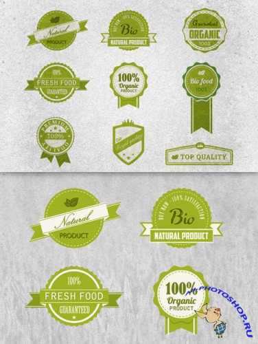 Bio Badges Photoshop Vector Pack