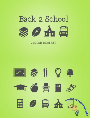 WeGraphics - Back 2 School Vector Icons Pack