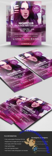 Nightclub Event Party Flyer/Poster PSD Template