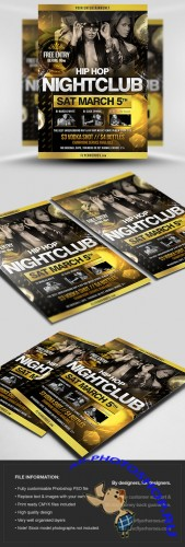 Hip Hop Party Flyer/Poster PSD Template 2