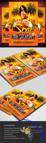 Sexy Latin Tuesdays Party Flyer/Poster PSD Template