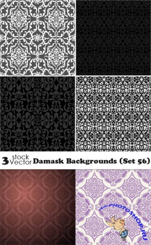 Damask Backgrounds (Set 56)