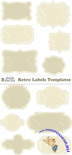 Retro Labels Templates