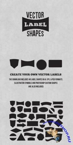 WeGraphics - Label And Badge Vector Shapes