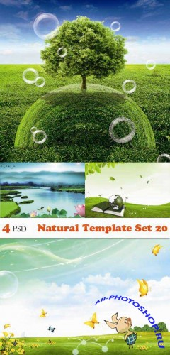 PSD исходники - Natural Template Set 20