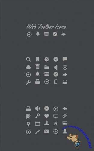 WeGraphics - Web Toolbar – Vector Icon Set