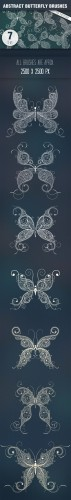 Designtnt - Butterflies Abstract PS Brushes
