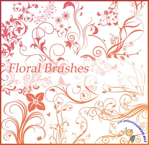 Floral Photoshop Brushes Pack