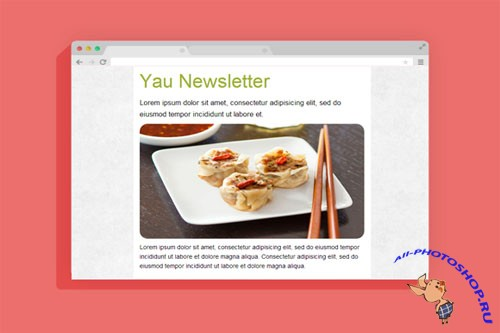 Yau Newsletter - Responsive HTML Template