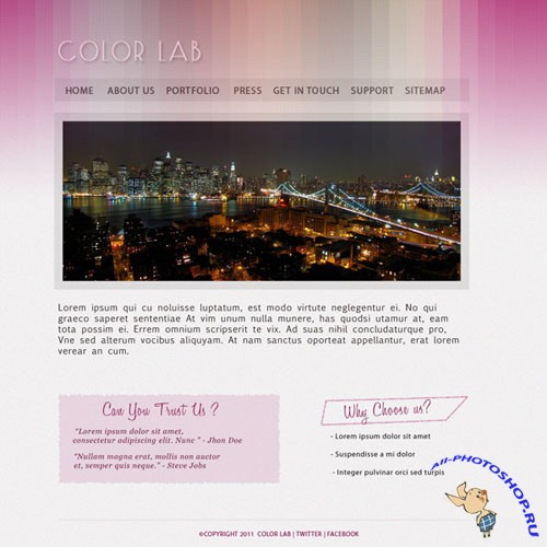 ColorLab PSD Website Template