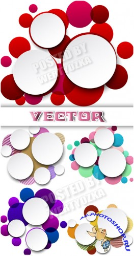 ������� ������� �������� / Round colored elements - vector