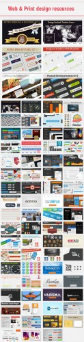 80 Premium Web & Print Design Resources from DesignTNT