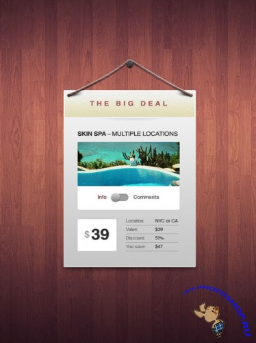 Elegant Coupon Window PSD Template