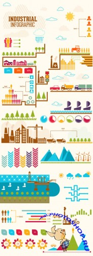 Industrial Infographic & Data Visualization Set