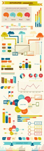 Communication Infographic & Data Visualization Set