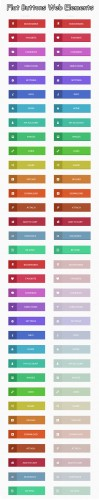 Designtnt - Flat Buttons Web Elements Set 1