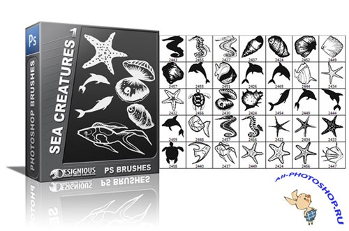 Sea Creature Brushes Set 1
