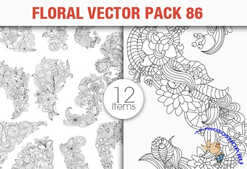 Floral Vector Pack 86