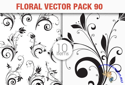 Floral Vector Pack 90