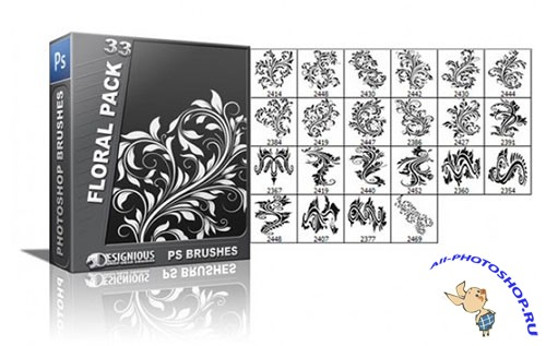 Floral Photoshop Brushes Pack 33