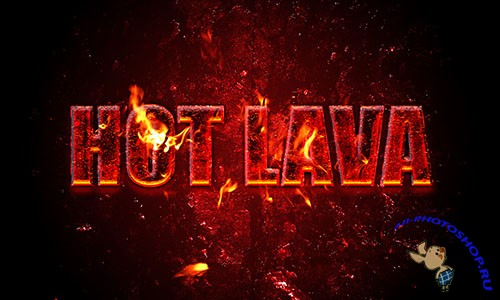 Hot Lava Photoshop Text Effect