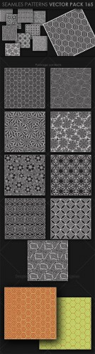 9 Seamless Patterns Vector Pack 165
