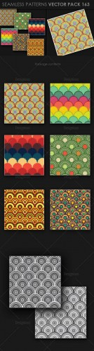 6 Seamless Patterns Vector Pack 163