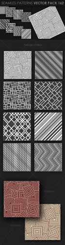 8 Seamless Patterns Vector Pack 162