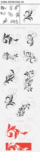 Floral Vector Pack 128