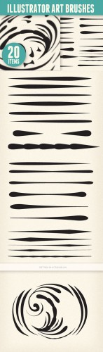 Blend Art Brushes Set for Illustrator