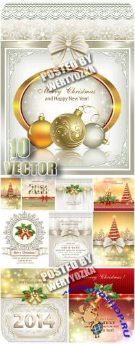 ���������� ����������� ���� � ����� � �������������� / Christmas silver background - stock vector