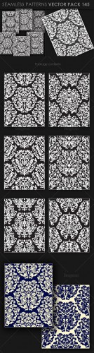 Seamless Patterns Vector Pack 145