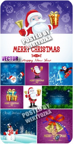 Санта клаус с подарками / Santa Claus with gifts - vector stock