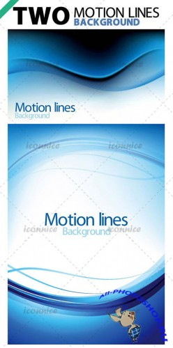 Two Motion Lines Vector Backgrounds