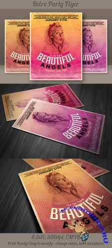 Retro Party Flyer Template 2