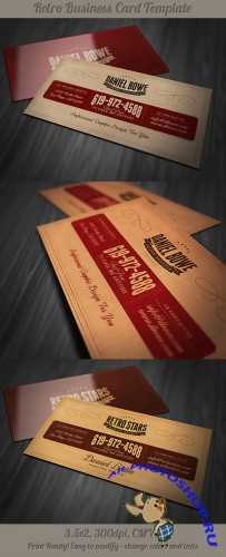 Retro Business Card Template 4