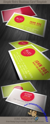 Retro Business Card Template 5
