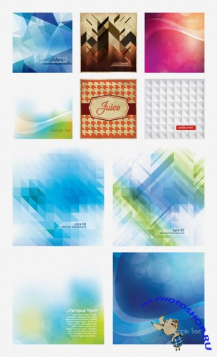 10 Abstract Vector Backgrounds Set