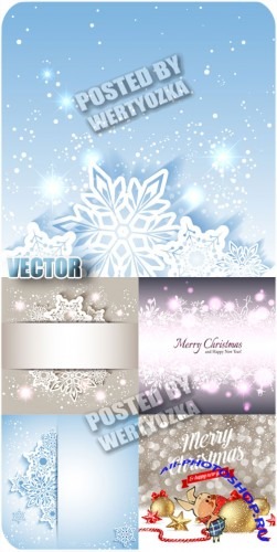 ���������� �������� / Sparkling snowflakes - stock vector