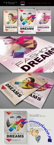 Fashion Dreams Flyer/Poster PSD Template #2