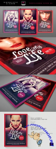 Love My Life Flyer/Poster PSD Template