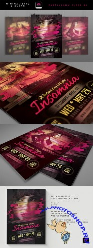 Insomnia Wednesday Night Flyer/Poster PSD Template