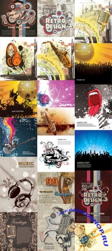 20 Music Illustrations Vector Set
