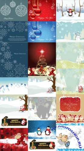 20 Winter Illustrations Vector Set