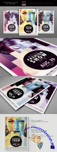 Boston Fashion Show Flyer Template 2