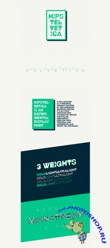 Hipstelvetica Font Family for Design Projects